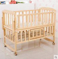 Wholesale 1 m large multifunctional wood paint no crib BB bed desk baby crib shaker variable