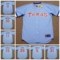 Wholesale Retro Custom BUDDY BELL NOLAN RYAN Baseball jersey or custom any name or number Throwback men Stitched jerseys