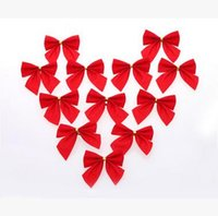 Wholesale Christmas Party Bow pendant Christmas Tree Bow Fashion Xmas Gift Decoration Lucky Baubles Christmas gifts a pack