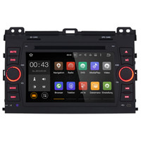 Wholesale 7 Inch Android Car Multimedia Player For Toyota Prado Capacitive Touch Quad Core HD1024 Free MAP Car DVD WIFI