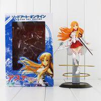 art paintings online - 23cm Sword Art Online Asuna Scale Pre painted Figure PVC Action Figure Collectable Model toy retail