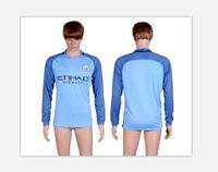 Wholesale Long sleeve football shirts Manchester City soccer jerseys DZEKO KUN AGUERO KOMPANY TOURE YAYA DE BRUYNE ET
