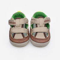 Wholesale Handsome Summer Baby Boy Sandal Newborn Baby Shoes Brand Of Delebao New Design Brown Color Canvas Cool Sandals Boy Shoes