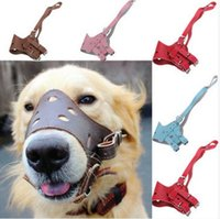 Wholesale Adjustable Pet Leather Muzzle No Bite Dog Mouth Mask your pet will feel comfortable to wear it