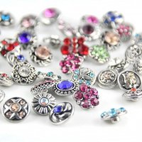 Wholesale High quality Mix Many styles mm Metal Snap Button Charm Rhinestone Styles Button rivca Snaps Jewelry NOOSA chunk