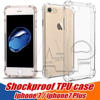 Wholesale For Iphone Case Iphone s Plus Shockproof Back Cover Soft TPU Gel Iphone Plus Cases OPP Pack