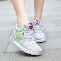 Wholesale Hot Sale Fashion Hidden Wedge Heel Women Sneakers for Height Increasing Shoes Outdoor Breathable Women Sport Shoes High Top Casual Shoes