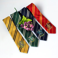 Wholesale New College tie movie jewelry Harry Potter Gryffindor series tie with badge Personality Cosplay For Boy School