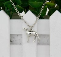 antique amulet - 10pcs Hot Antique Silver Dog Greyhound Charm Amulet Pendant Clavicle Short Necklace Jewelry Findings Friendship Gift A020
