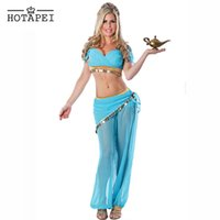 adult belly dancer - Hotapei Arabian Belly Dancer Costume Sexy Adult Cosplay Genie Halloween Costume for women Seductive Beauty Slave Costumes