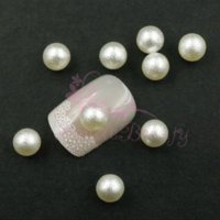 balls handcrafts - 100pcs mm Ivory No Hole Imitation Pearl Round Ball D Salon Acrylic UV Gel Nail Art Handcrafts DIY Design Decorations
