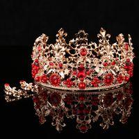 antique veils - 2016 Elegant Bridal Tiaras Rhinestone Hair Accessories Luxury Wedding Crowns Bridal Veil Shining High Quality Bridal Crown WB