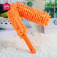 Wholesale Chenille creative double can be arbitrarily curved duster car duster household cleaning duster flexible