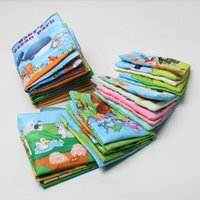Wholesale 2016 Hot Baby Toys Infant Early Education Fabric Book Car Bed Hanging Colorful Animals Cloth Book