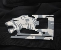 Wholesale New EDC pocket cards stainless steel multifunction card tool knife camping Ninja Wallet