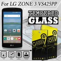 accessory zone - Tempered Glass Screen Protector For LG Spree VS425 K4 ZONE Mobile Phone Accessories with in packing