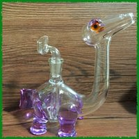acrylic pipe sizes - Glass pipe beautiful design dinosaur glass water pipes glass bongs oil rigs with slitted cuts perc and mm joint size
