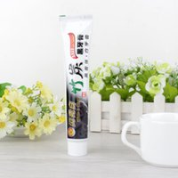 Wholesale Bamboo charcoal black toothpaste anti halitosis go smoke stains to stain teeth whitening Oral Care whitening toothpaste