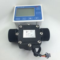 Wholesale sets G1 quot water Flow Sensor water flow Meter LCD Display Quantitative Control L min