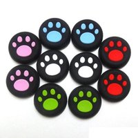 Wholesale Silicone Thumbstick Thumb Grips Case for PS4 PS3 XBOX ONE Playstation Controller Replacement Rocker Cat Footprint Retail Box