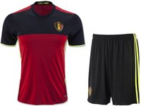 Wholesale Belgium home red Jersey Away White New Soccer Euro Cup French Football Shirt team player soccer sets