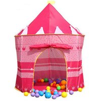 Wholesale New Children Beach Tent Prince and Princess Palace Castle Children Playing Indoor Outdoor Toy Tent Game House