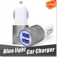 Wholesale Best Metal Dual USB Port Car Chargers Charging Adapter Universal for Apple iPhone iPad iPod Samsung Galaxy Motorola Droid Nokia Htc