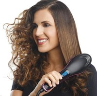 Wholesale Simply Straight Hair Straightener Ceramic Electric Hair Straightening Irons Comb with LCD Display Vs DAFNI