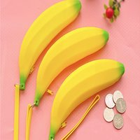 banana design - 10PCS Cute Design Top Quality Soft Silicone Banana Shape Useful Holding Coin Purse Korean Style New Designer Purses for Children