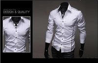 Wholesale Mens Fashion Luxury Stylish Casual Designer Dress Shirt Muscle Fit Shirts colors Sizes with