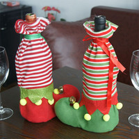big lots wine - 5Pcs Showy Wine Bottle Cover Xmas Santa Table Decor Christmas Party Special Clown Joker Big Foot Red Wine Dress Fairy Decoration