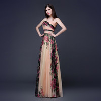 Wholesale Sexy Tube Formal Evening Dresses Ruffles Lace Edged Cheap Long Sheer Prom Party Gowns Evening Wear Dress