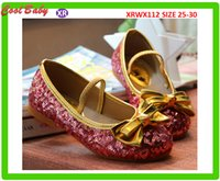b big lots - Fashion Girls Princess shoes Big Brand sequins Dancing Bow Belt Shoes For years Kids Size sets XRWX112