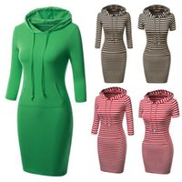 Wholesale Long Casual Fall Autumn Women Coat Cotton Striped Slim Pullovers hoodies Sweater