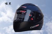 airbag motorcycle helmet - 2016 new dual lens motorcycle helmet LS2 FF320 racing professional full face helmet cheek adjust airbag Matte black