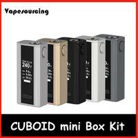 Precio de Evic joytech-Auténtico Joyetech Cuboid Mini 80w Box kit 2400mah Control de temperatura Mod ajuste Joytech Cuboid Mini Atomizador ecigarette VS evic vtwo mod