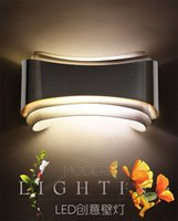 Wholesale Modern led wall lights for bedroom study room Stainless steel Acrylic W home decoration wall Sconce lamp