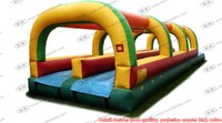 adult slip n slide - Summer Double Lane Inflatable Slip N Dip Inflatable Water Slide for kids n adults