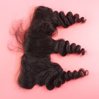 Wholesale 13x4 Lace Frontal Closures Unprocessed Mongolian loose wave Human Hair Cheap Lace Frontals Free Part With Bleached Knots FreeShip