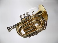 Wholesale Bb Pocket trumpet with Foam case Musical instruments Shipping time days