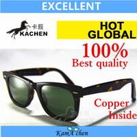 Wholesale KaChen mm mm Plank Gradient Brown Blue Green Bottle black gray Lens UV400 protection amber sunglasses glasses men women