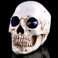 appliances europe - height with cm diamond Blue Eyes Resin human skull Halloween decoration home appliances deoration resin craft