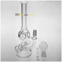 Wholesale 2016 New Two Function inch Mini Glass Bong Oil Rig Glass Bubbler Inline to Donut Oil Rig Percolator mm joint Glass Water Pipe