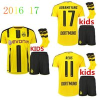 best j - 201 price best quality Dortmund Kids shorts socks Jerseys REUS PULISIC DEMBELE AUBAMEYANG M GOTZE football j