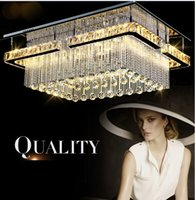 bedroom items - New modern item rectangular LED crysal chandelier ceiling mounted crystal Pandant light fixutres foyer luxury chandeliers
