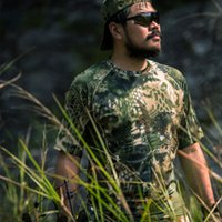 Wholesale kryptek camo Hunting Clothes Outdoor Sports Short Sleeve t shirt tactical sniper suit Airsoft slingshot wargame Shirt