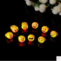 Wholesale Creative LED Rings Emoji Expression LED Rings Flashing Rings Christmas Finger Rings Festival Party Supplies Lighted Toys CCA5138