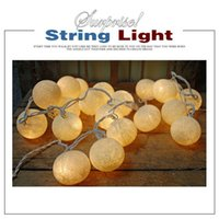 Wholesale 20 LED Battery Powered Cotton BALL FAIRY String Lights PARTY WEDDING Home DECOR