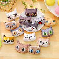 Wholesale Kawaii Funny Cat Expression series Badge Holder amp Accessories Brooch Students s gift prize Kids toy office school