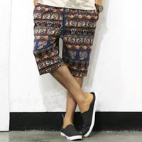 bermuda flowers - mens Floral Summer cargo shorts jogger men Designer bermuda masculina loose shorts man Flower Linen XL shorts NEW
